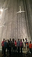 Falling from the sky-Dubai mall water fall