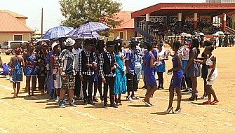 Blue house fashion parade