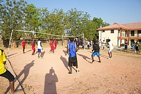 Boys Volley-ball training